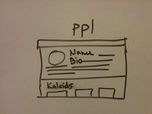 User Profile page with name, bio, & Kaleid/kaleids